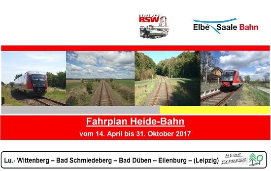 Fahrplan der Heidebahn