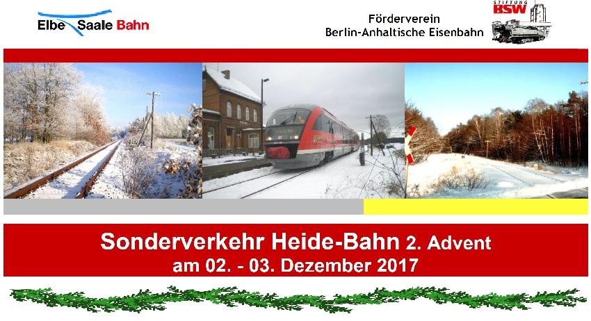 Sonderverkehr Heidebahn 2. Advent 2017