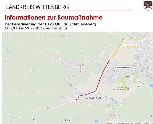 Info zur Baumaßnahme Deckensanierung L128 OU Bad Schmiedeberg